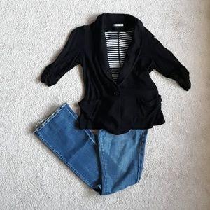 Amazing black Jersey blazer originally from japan